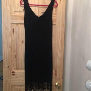 Dresses & Skirts - Glitter bodycon dress with beaded fringe